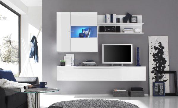модульная белая стенка в гостиную