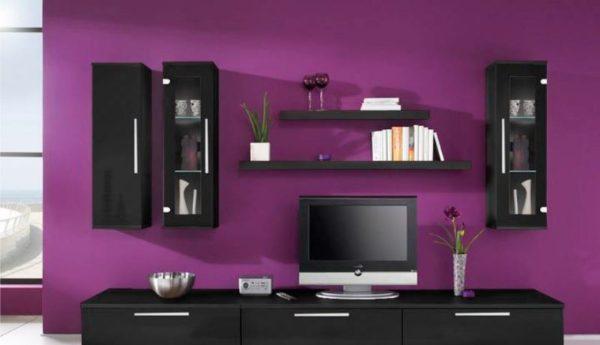 фото современной стенки в гостиную