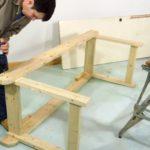 процесс изготовления стола