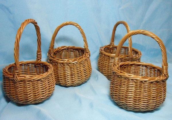 Формы плетеных корзин