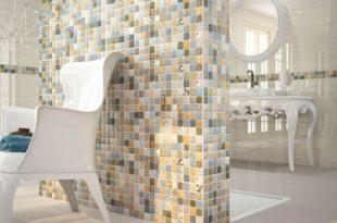 Керамическая плитка в стиле пэчворк для ванной