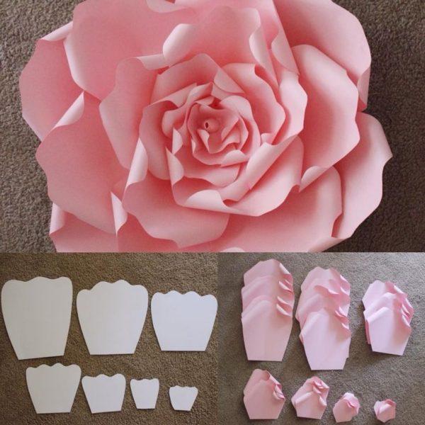 Напечатанная объемная роза
