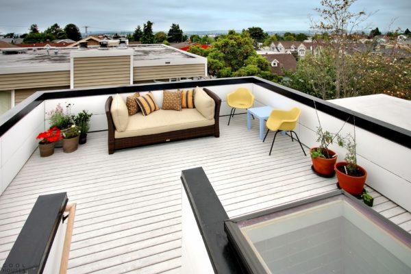 декорирование зоны барбекю на крыше