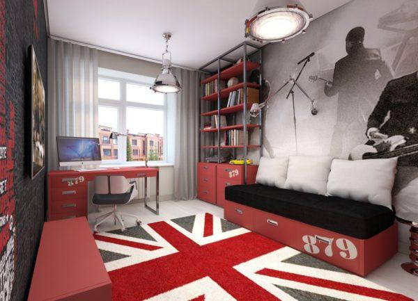 детская в квартире в патриотическом стиле