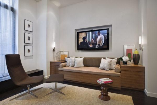 дизайн небольшой квартиры в нью-йорке