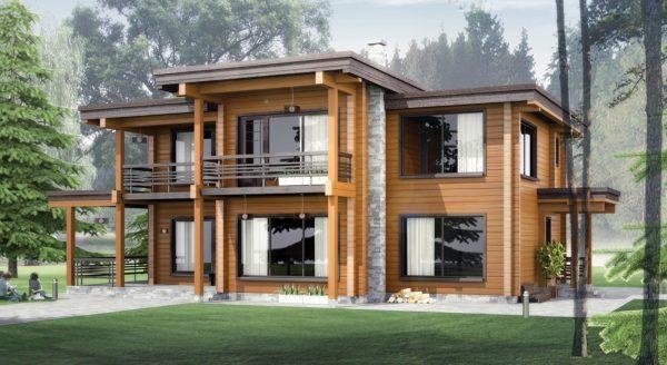 дом из клеенового бруса