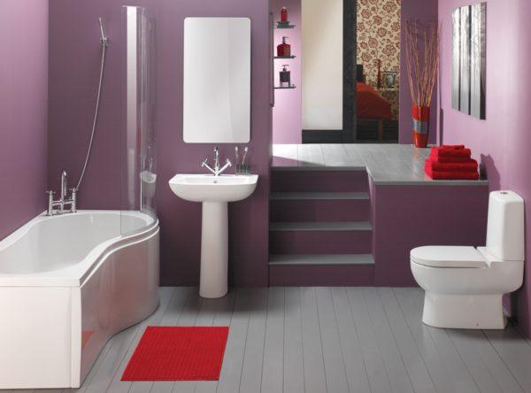 фиолетовая ванна