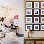 интерьеры с фотографиями на стене