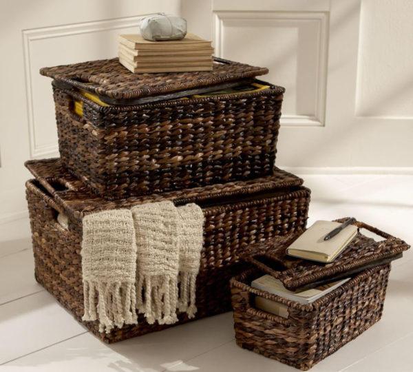 изготовление плетеных корзин