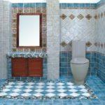 керамогранит на плитке в ванной