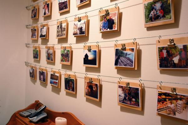 коллаж с семейными фотографиями