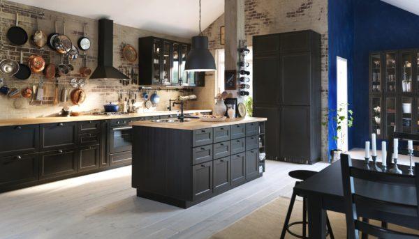кухня в стиле лофт на даче