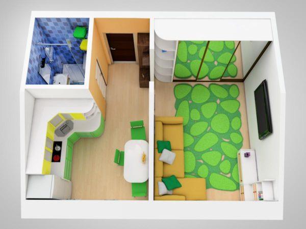 любопытный дизайн квартиры