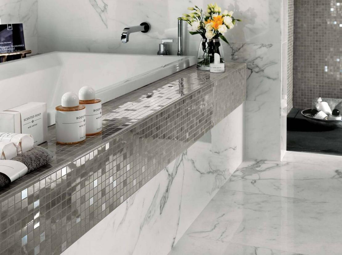 Porcelain tile vs ceramic tile in a bathroom
