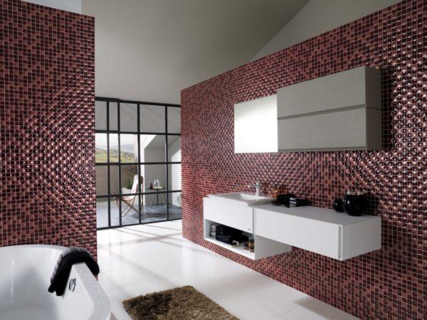 мозайка в оформлении плитки