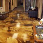 наливной пол в гостиной