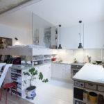 необычный дизайн кухни-спальни