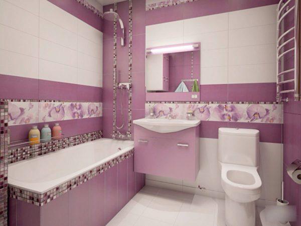 необычный вариант фиолетовой ванны