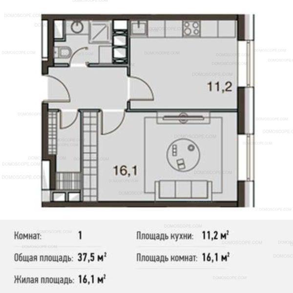 общаяя площадь квартиры