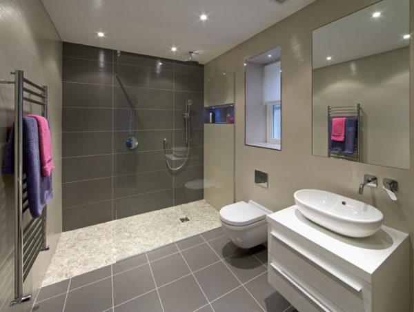 открытая ванная комната