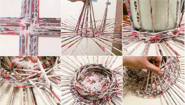 плетеная корзинка своими руками