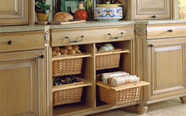 плетеные корзинки для кухни