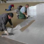 процесс монтажа наливного пола