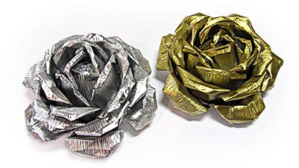 розы из алюминия