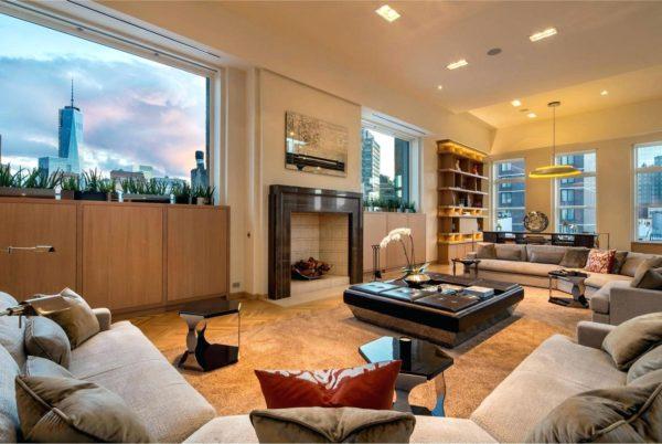 шикарный интерьер квартиры в нью-йорке