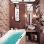 смелое решения в дизайне ванны