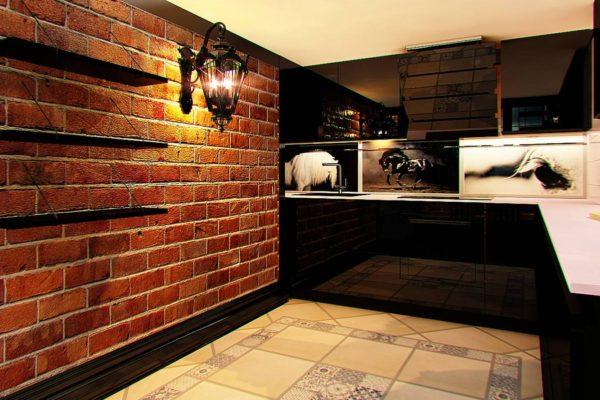 стиль лофт в дизайне кухни