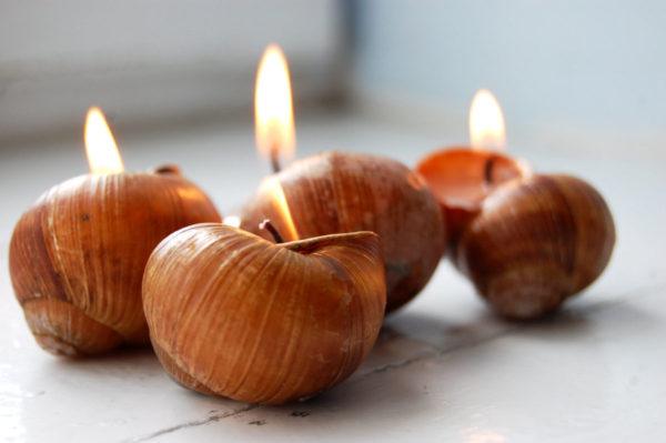 свеча в ракушке