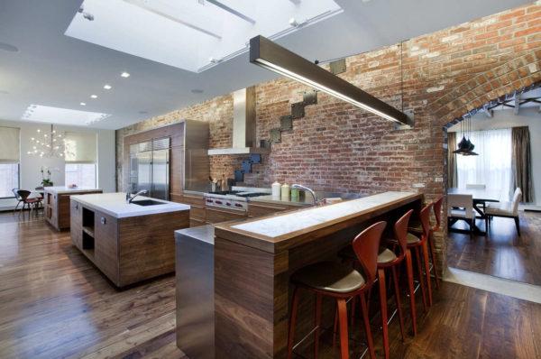 тонкости стиля лофт на кухне