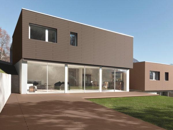 вариант фасадного панельного дома