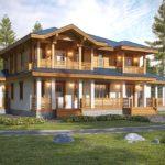 загородный дом с балконом