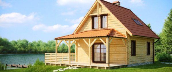 загородный дом с пирсом