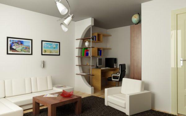 белая мебель в маленькой квартире