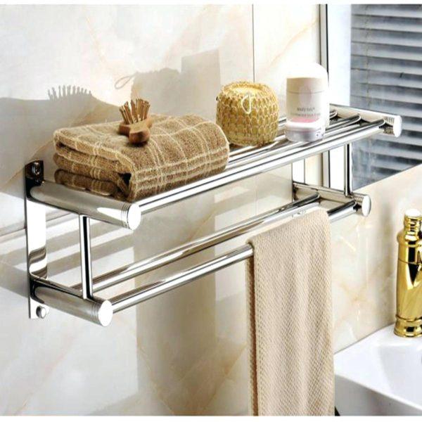 металическая полочка для полотенца