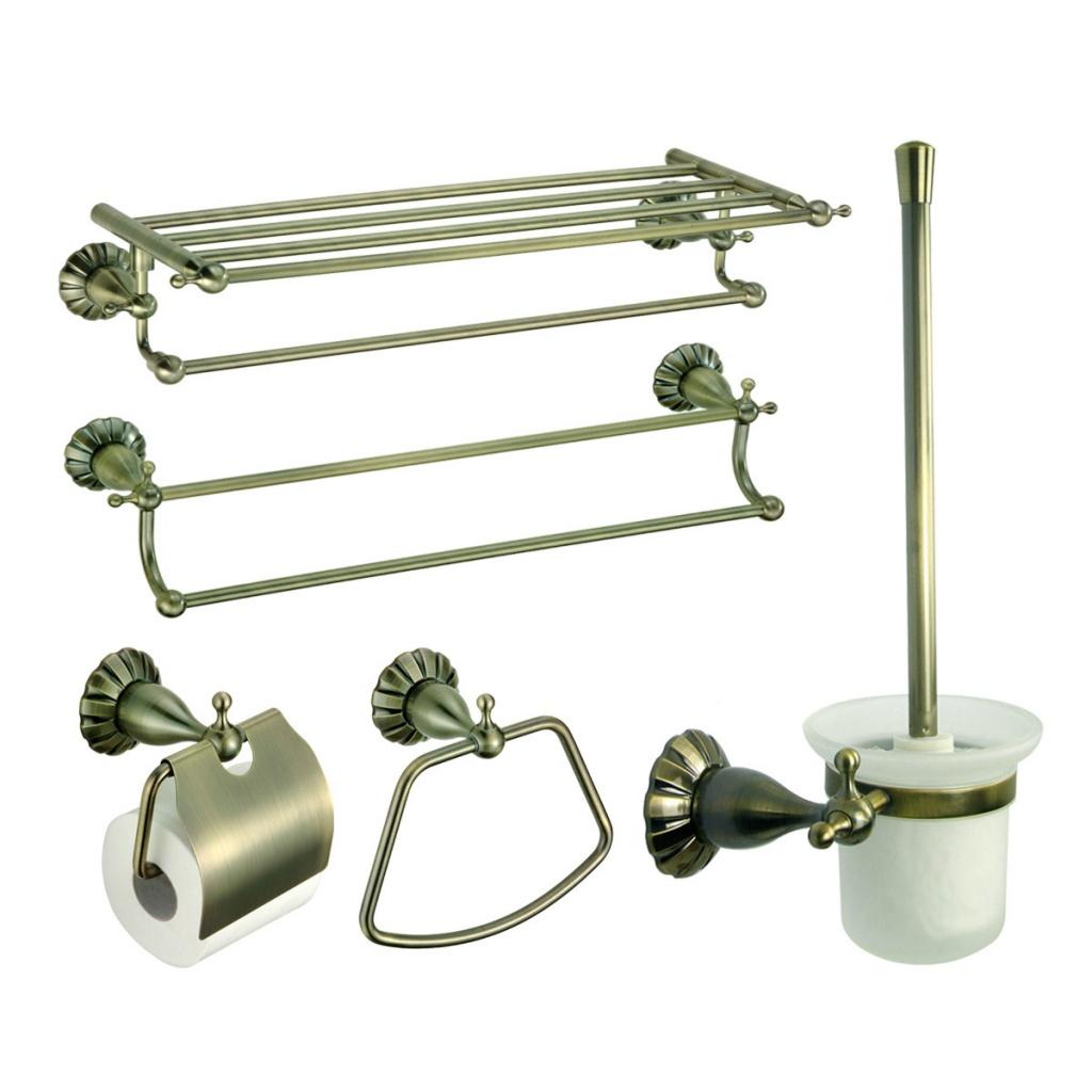 металлические элементы для ванной комнаты