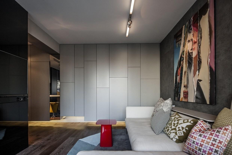 Дизайн квартиры студии 40 кв.м в стиле минимализм