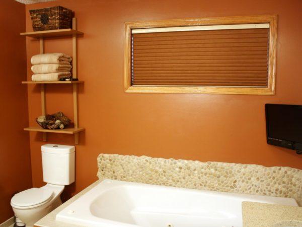 оригинальная идея интерьера ванной комнаты