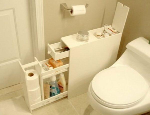 оригинальная полка-шкафчик для ванной