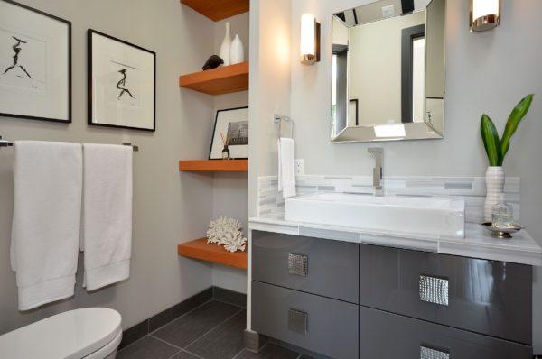 оригинальный интерьер ванной комнаты