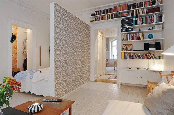перегородка в маленькой квартире