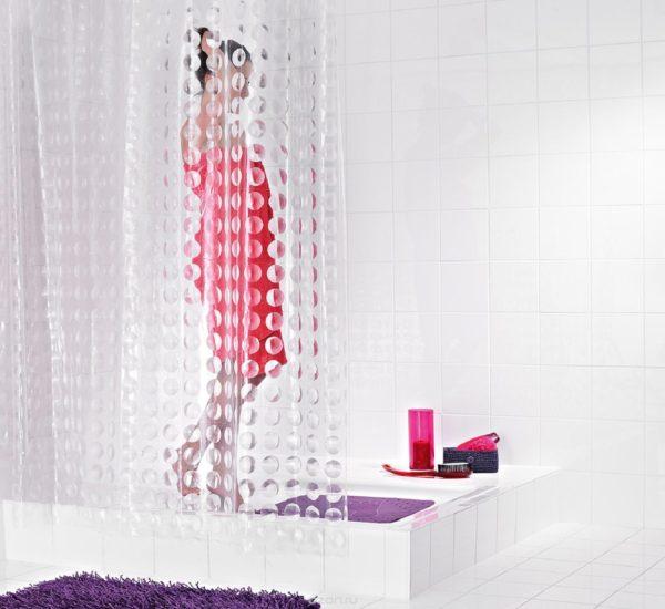 прозрачные занавески для ванной