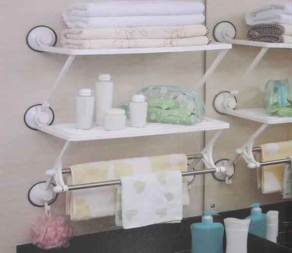 универсальные полки для ванной комнаты