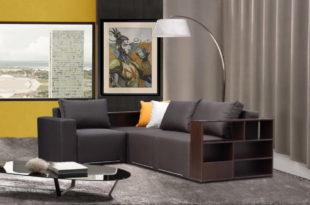 Угловой диван с полками