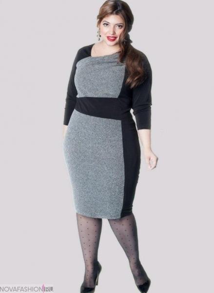 55dc2b871ccdf39 Красиво смотрится платье-футляр для полных женщин. Оно может быть  выполнено, как в спокойной цветовой гамме, так и иметь весьма кричащую  расцветку.