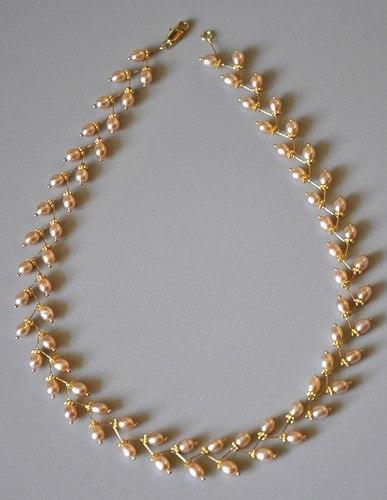 Жемчужное ожерелье своими руками фото 648