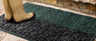 Основные особенности выбора придверного коврика